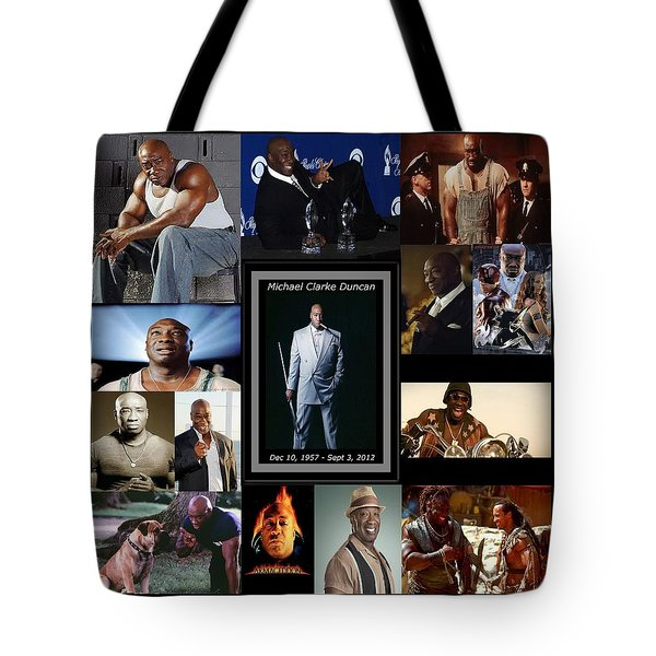 Tribute To Michael C. Duncan Tote Bag by Davandra Cribbie