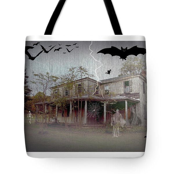 Trick Or Run Like Hell Tote Bag by Brian Wallace