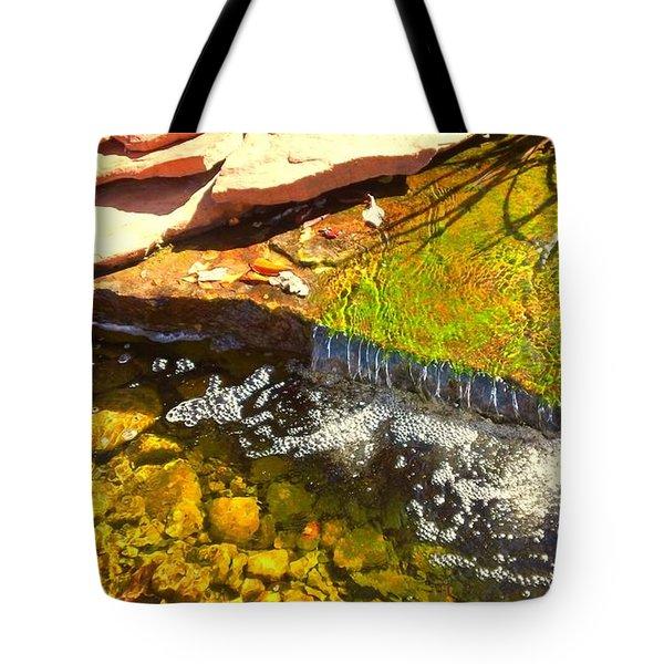 Trickle Waterfall Tote Bag by Usha Shantharam