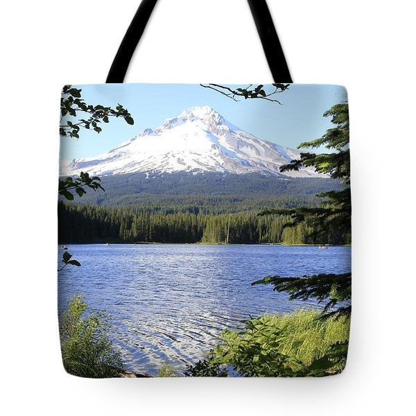 Tote Bag featuring the photograph Trillium Lake At Mt. Hood by Athena Mckinzie