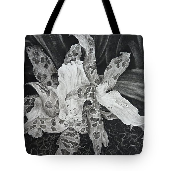 Triple Orchid Blossom Tote Bag by Estephy Sabin Figueroa