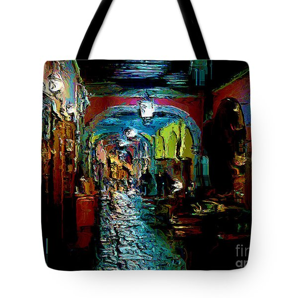 Tote Bag featuring the digital art Trippin In San Miguel by John  Kolenberg