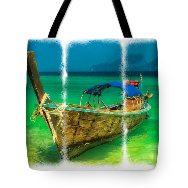 Triptych Longboat Tote Bag by Adrian Evans