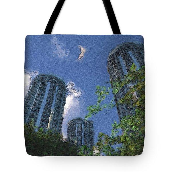 Triton Towers Tote Bag by Richard Rizzo