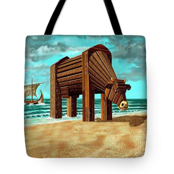 Trojan Cow Tote Bag