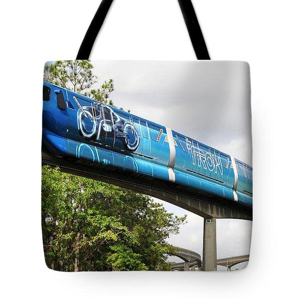 Tron A Rail Tote Bag by David Lee Thompson