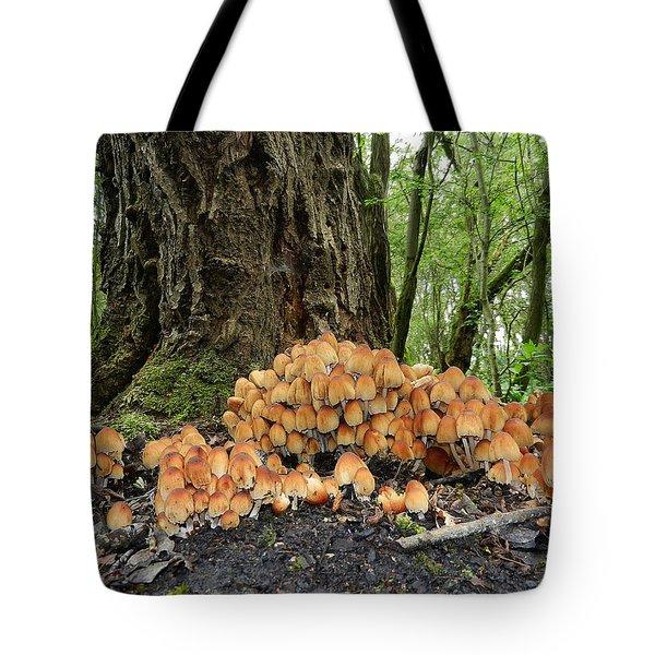 Trooping Crumblecaps Tote Bag