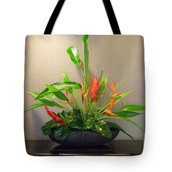 Tropical Arrangement Tote Bag by Mary Deal