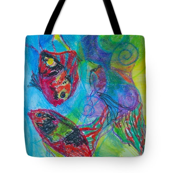 Tropical Ballet II Tote Bag by Claudia Smaletz