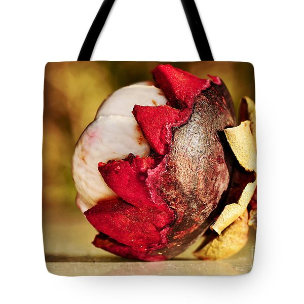 Tropical Mangosteen - Ready To Eat Tote Bag by Kaye Menner