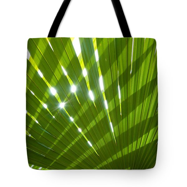 Tropical Palm Leaf Tote Bag by Amanda Elwell