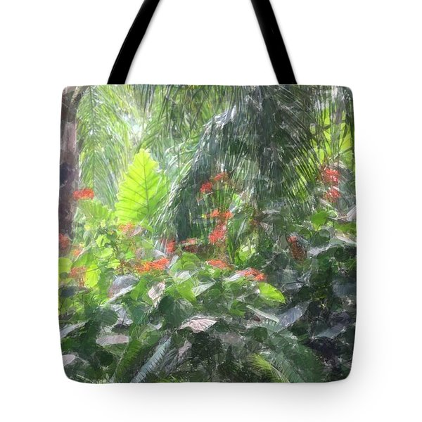 Tote Bag featuring the photograph Tropical Paradise by Donna  Smith