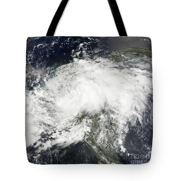 Tropical Storm Arthur Tote Bag by Stocktrek Images