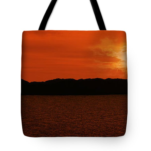 Tropical Sunset Tote Bag by Lourry Legarde