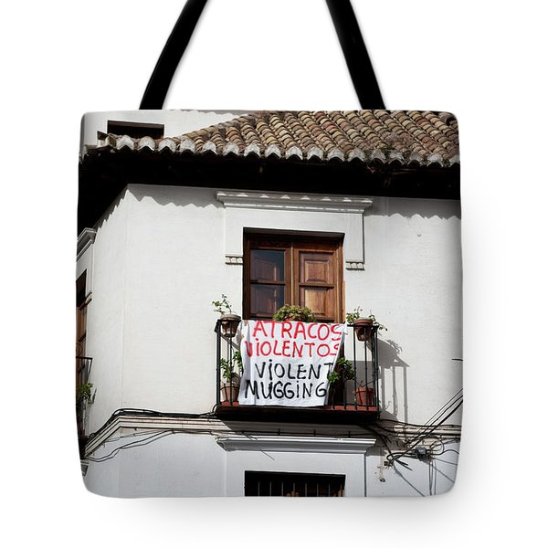 Tote Bag featuring the photograph Trouble In The Neighborhood by Lorraine Devon Wilke