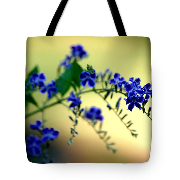 Tote Bag featuring the photograph Tru Blu by Donna Bentley