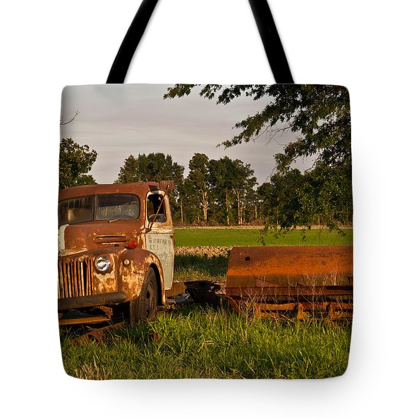 Truck And Tank 31 Tote Bag by Douglas Barnett