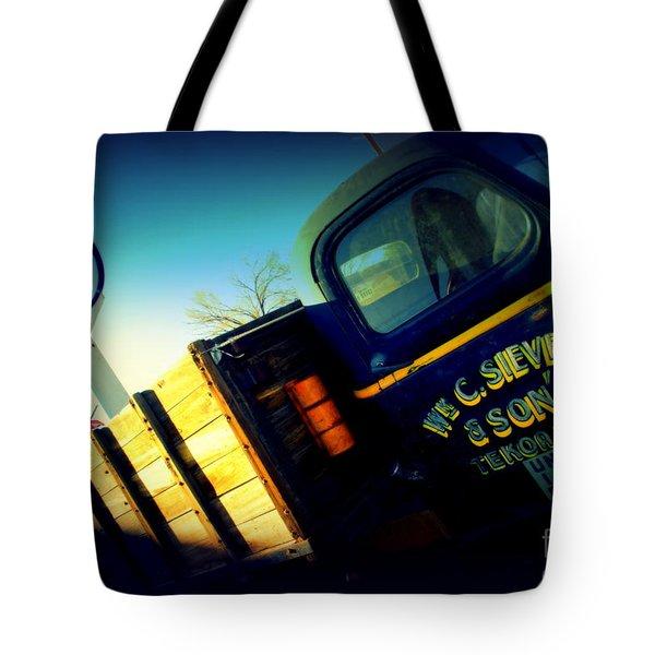 Truck On Route 66 Tote Bag by Susanne Van Hulst