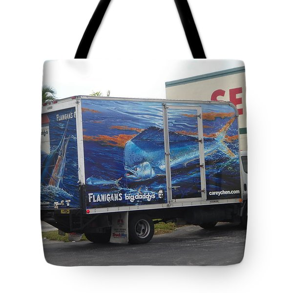 Truck Wraps Tote Bag by Carey Chen