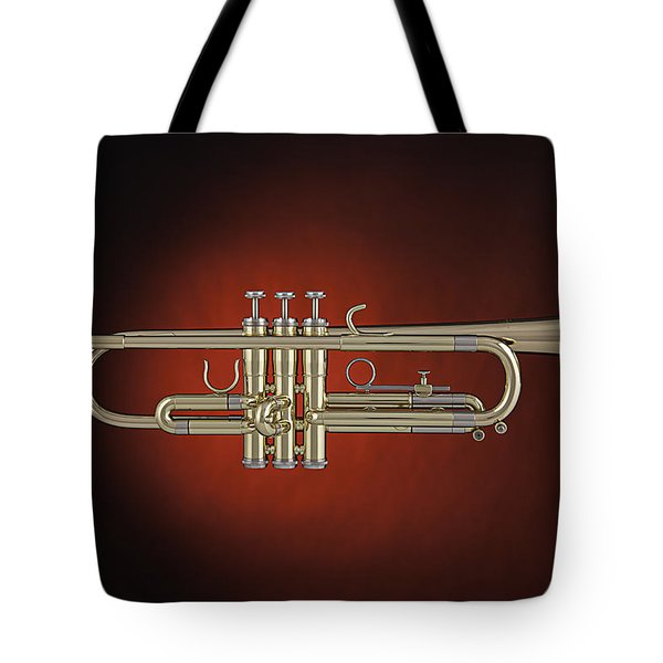 Trumpet Red Spotlight  Tote Bag by M K  Miller