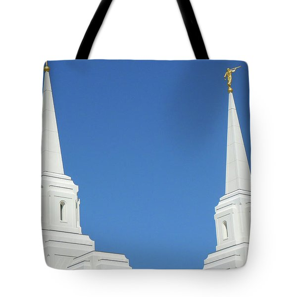 Trumpeting The Arrival Of The Lord Tote Bag by Gary Baird