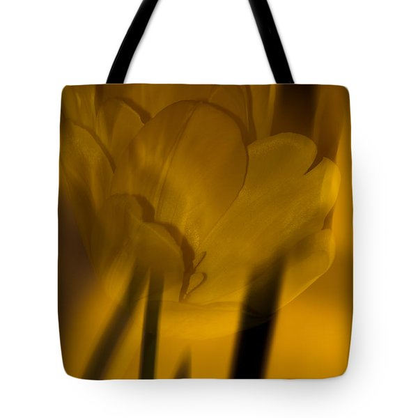 Tote Bag featuring the photograph Tulip Abstract by Ed Gleichman