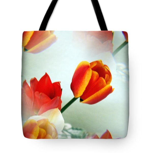 Tulip Abstract Tote Bag by Marilyn Hunt
