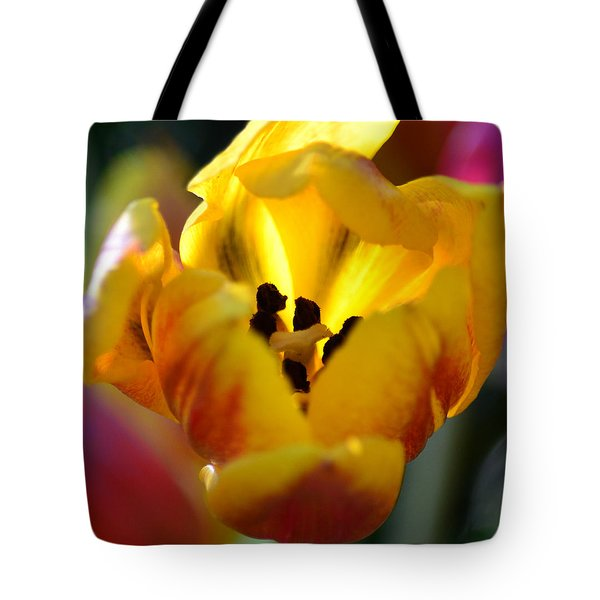 Tulip Light Tote Bag by Sandi OReilly