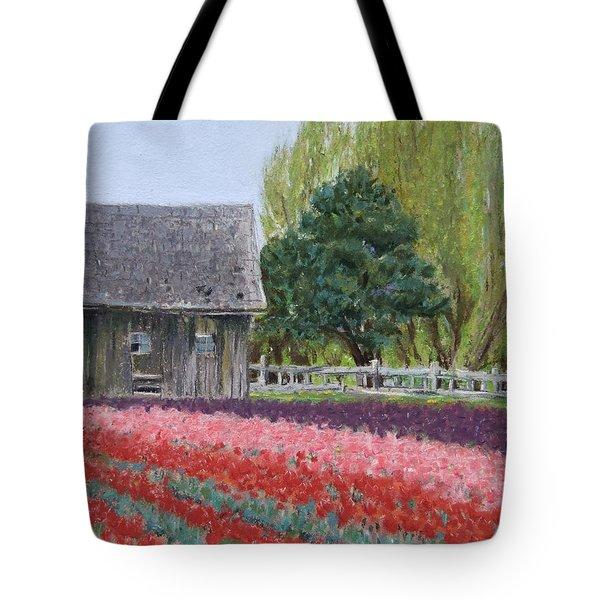 Tulip Season Tote Bag by Marie-Claire Dole