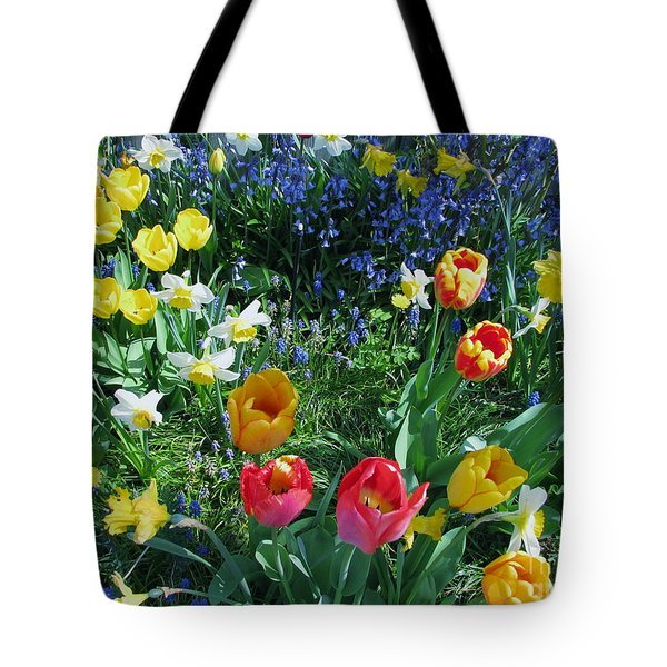 Tulips Dancing Tote Bag by Rory Sagner