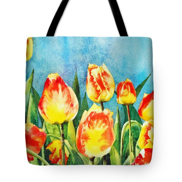 Tote Bag featuring the painting Tulips by Diane Fujimoto