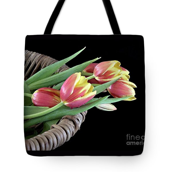 Tulips From The Garden Tote Bag by Sherry Hallemeier
