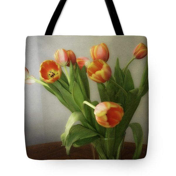 Tote Bag featuring the photograph Tulips by Joan Bertucci