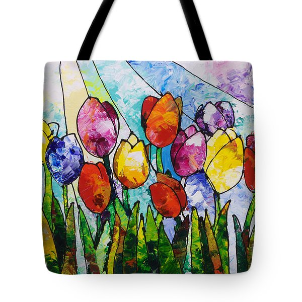 Tulips On Parade Tote Bag
