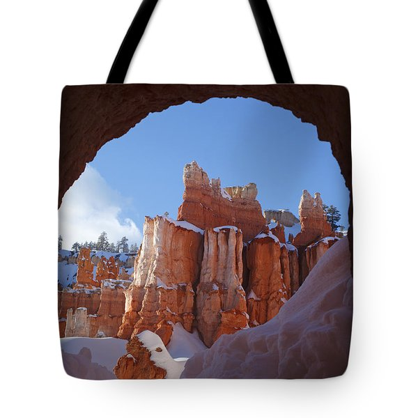 Tote Bag featuring the photograph Tunnel In The Rock by Susan Rovira