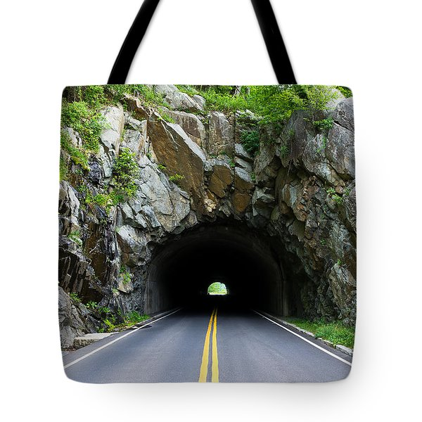 Tunnel On A Lonely Road Tote Bag