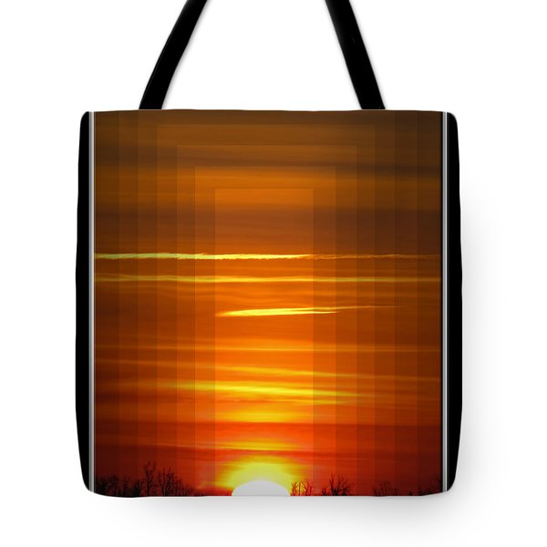 Tunnle Vision Tote Bag by Debbie Portwood