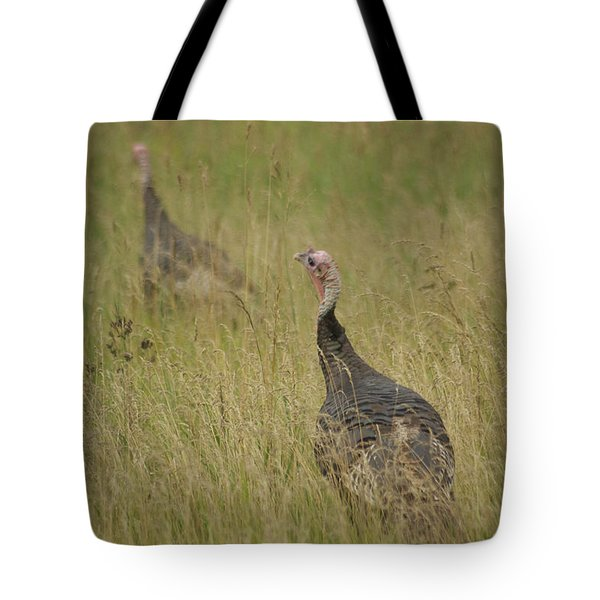 Turkeys Tote Bag by Michael Peychich