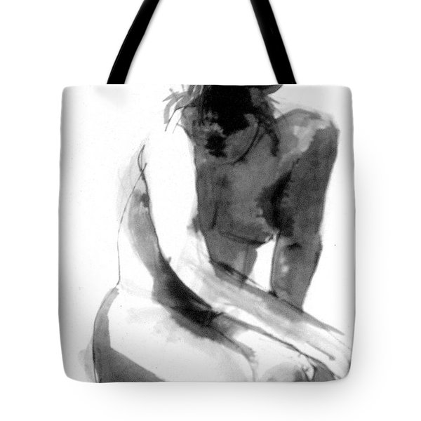 Tote Bag featuring the drawing Turn Back by Gabrielle Wilson-Sealy