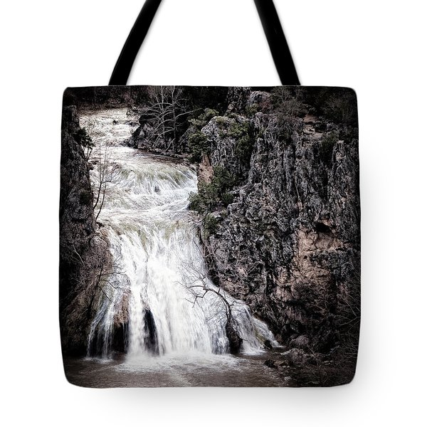 Turner Falls Roar Tote Bag by Tamyra Ayles
