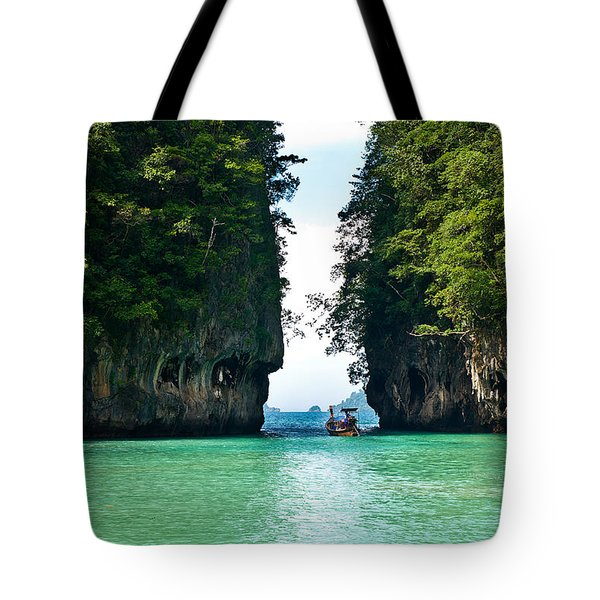 Turquoise Lagoon In Thailand Tote Bag