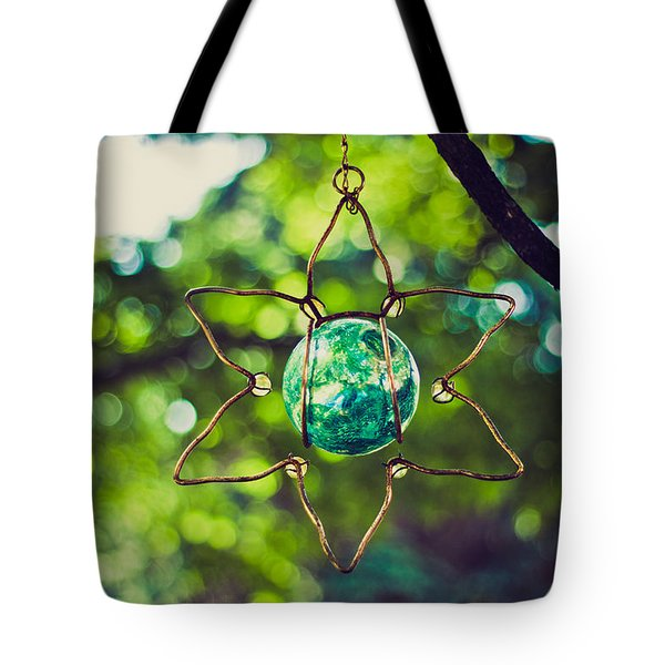 Turquoise Light Tote Bag by Sara Frank