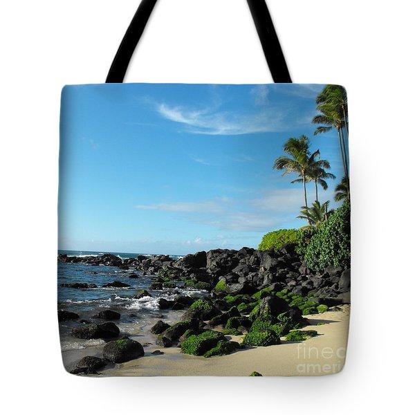 Turtle Beach Oahu Hawaii Tote Bag by Rebecca Margraf