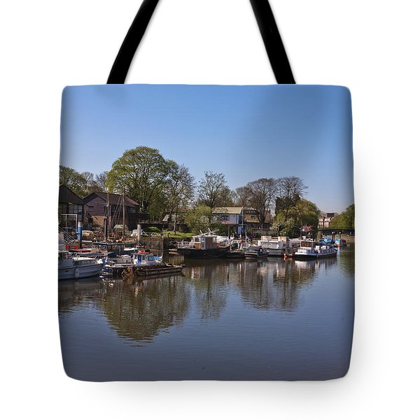 Tote Bag featuring the photograph Twickenham Marina by Maj Seda