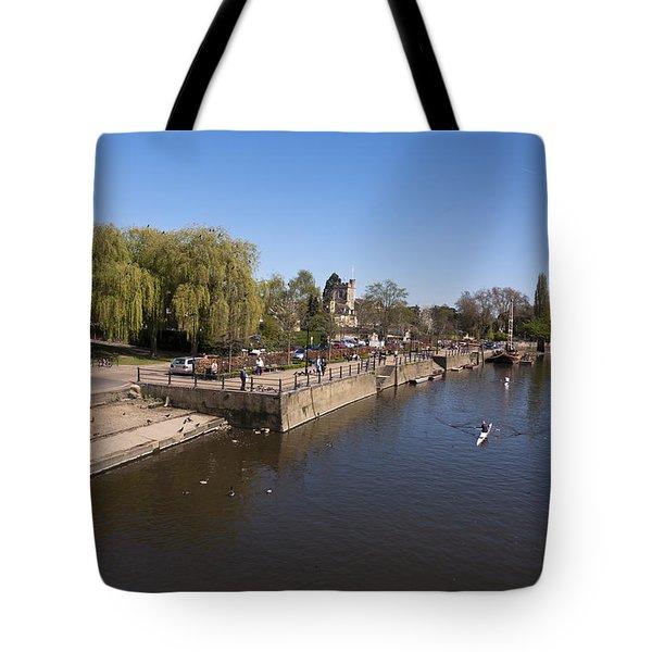 Tote Bag featuring the photograph Twickenham On Thames by Maj Seda