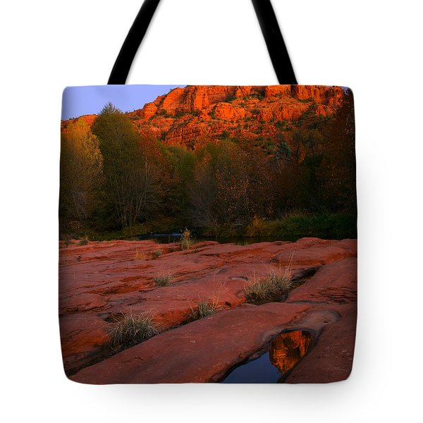 Twilight Cathedral Tote Bag by Mike  Dawson
