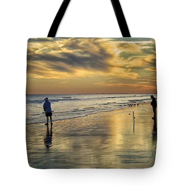 Twilight Fishing Tote Bag by Phill Doherty