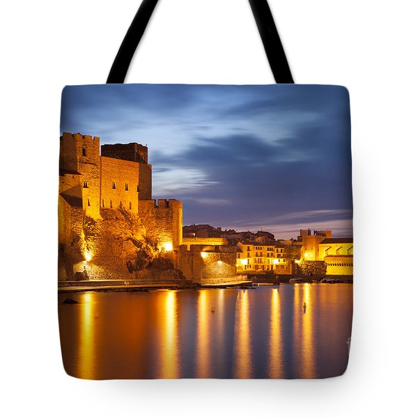 Twilight In Collioure Tote Bag by Brian Jannsen