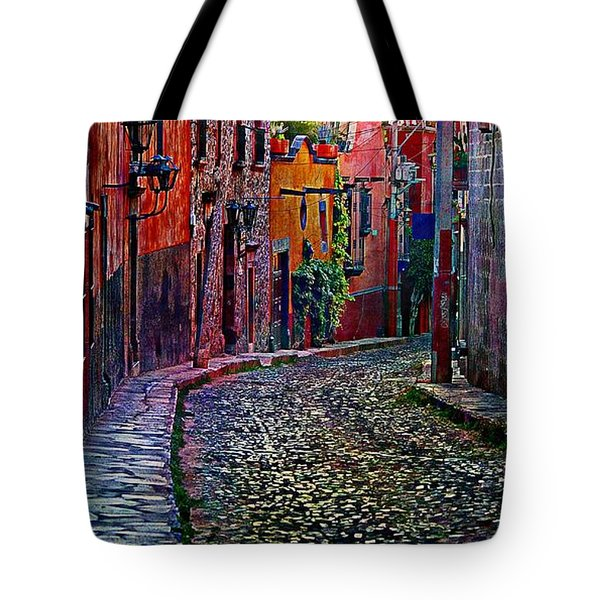 Twilight In San Miguel De Allende Tote Bag by John  Kolenberg