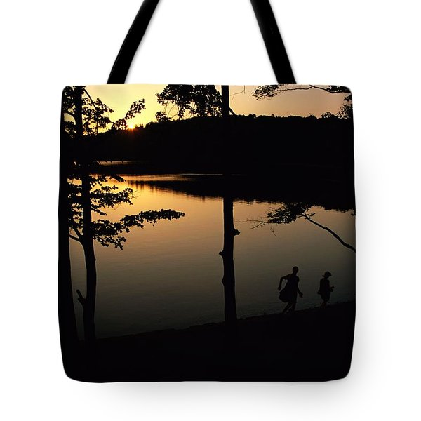 Twilight Over Walden Pond, Made Famous Tote Bag by Tim Laman